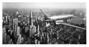 DC-4 over Manhattan, NYC