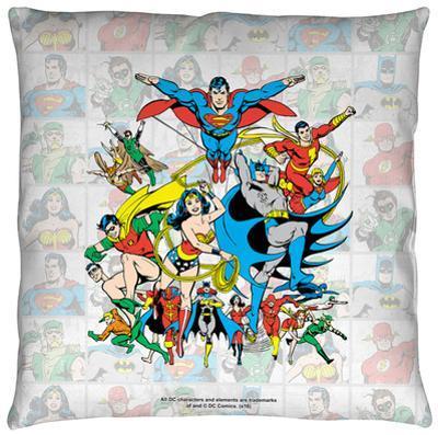 DC - Classic Squares Throw Pillow