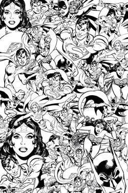 DC Comics- Coloring Poster