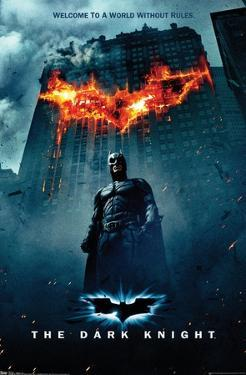 DC Comics Movie - The Dark Knight - Batman Logo on Fire One Sheet