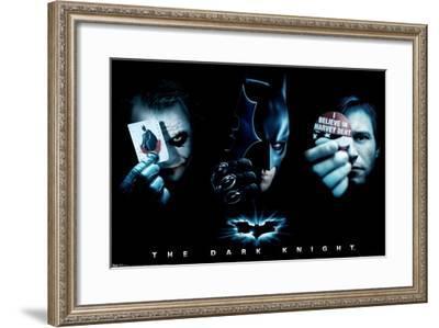 DC Comics Movie - The Dark Knight - The Joker, Batman, Harvey Dent--Framed Poster