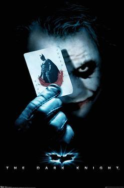 DC Comics Movie - The Dark Knight - The Joker with Batman Playing Card