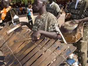 Balafon Players During Festivities, Sikasso, Mali, Africa by De Mann Jean-Pierre