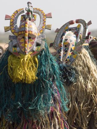 Bobo Masks During Festivities, Sikasso, Mali, Africa
