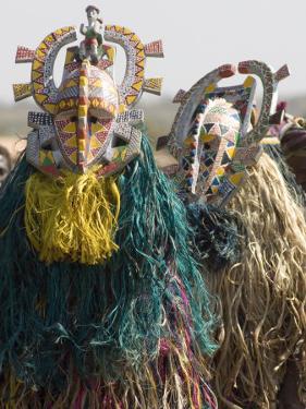 Bobo Masks During Festivities, Sikasso, Mali, Africa by De Mann Jean-Pierre