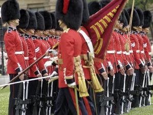 Changing the Guard Ceremony, Parliament Hill, Ottawa, Ontario, Canada, North America by De Mann Jean-Pierre