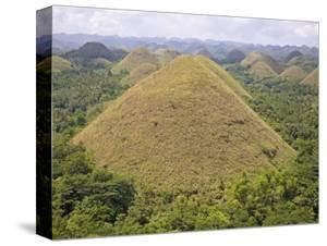 Chocolate Hills, Bohol Island, the Philippines, Southeast Asia by De Mann Jean-Pierre