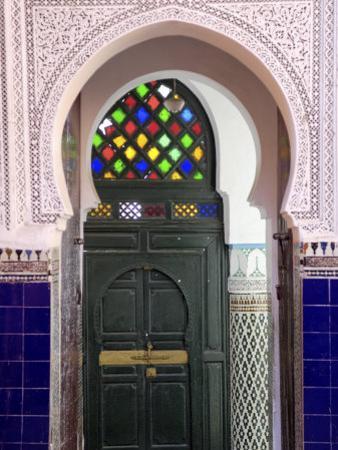 Door in the Souks in the Medina, Marrakesh, Morroco, North Africa, Africa