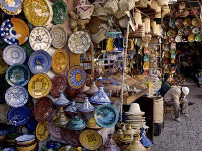 Souks in the Medina, Marrakesh, Morocco, North Africa, Africa
