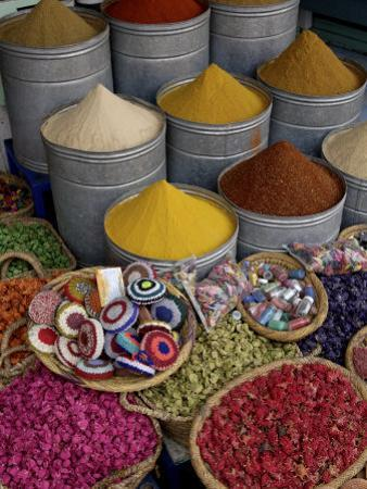 Spices in the Souks in the Medina, Marrakesh, Morroco, North Africa, Africa