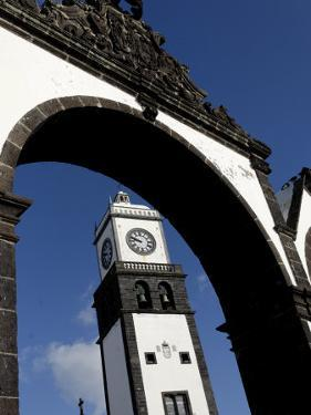 Three Arches, Symbolic Old Gates of the City, Ponta Delgada, Sao Miguel Island, Azores, Portugal by De Mann Jean-Pierre