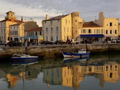View of the Clemenceau Quay, Port Area, Saint Martin, Ile De Re, Charente Maritime, France, Europe