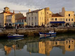 View of the Clemenceau Quay, Port Area, Saint Martin, Ile De Re, Charente Maritime, France, Europe by De Mann Jean-Pierre