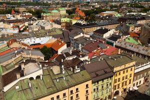 Bird's-Eye View of the Old Town of Kracow, Poland. by De Visu