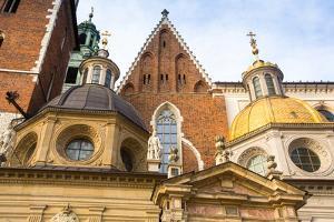 Closeup Wawel Cathedral in Kracow, Poland by De Visu