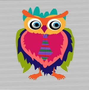 Cute Owl, Cartoon Drawing, Cute Illustration for Children, Vector Illustrations (Hipster Symbol Ser by De Visu