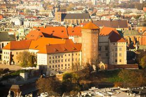 Poland, Aerial View of Royal Wawel Castle in Krakow. by De Visu