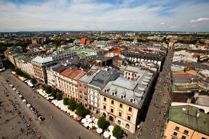 View of the Old Town of Cracow, Old Sukiennice in Poland. (World Heritage Site by Unesco) by De Visu