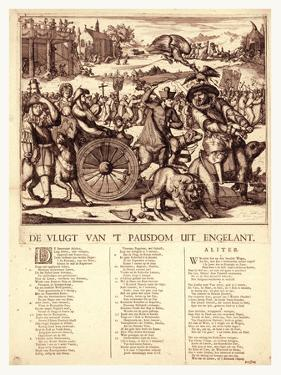 De Vlugt Van 't Pausdom Uit Engelant, Hooghe, Romeyn De, 1645-1708