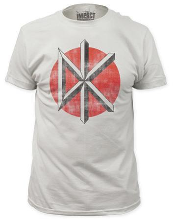Dead Kennedys - Distressed Logo White (slim fit)