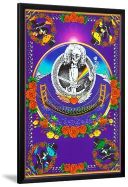 Deadheads Over The Golden Gate (Blacklight Poster - No Flocking)