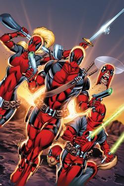 Deadpool Cover Art Featuring: Lady Deadpool, Deadpool, Headpool, Kidpool, Dogpool