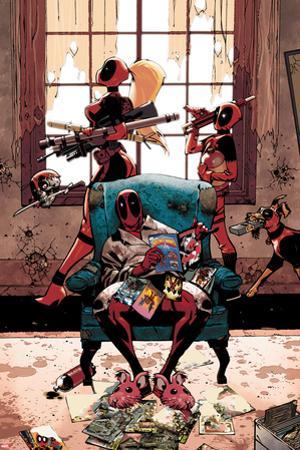 Deadpool Cover Art Featuring: Lady Deadpool, Kidpool, Dogpool, Headpool, Deadpool