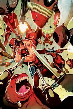 Deadpool Cover Featuring Deadpool, Lady Deadpool, Kidpool, Dogpool