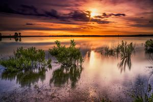 Benbrook Lake Sunrise by Dean Fikar