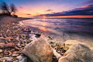 Benbrook Lake Sunset by Dean Fikar