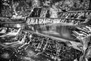 Cascading Waterfall on the San Antonio Riverwalk by Dean Fikar