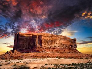 Desert Butte in Utah by Dean Fikar