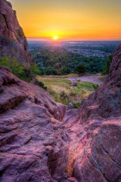 Sunrise over Boulder, Co by Dean Fikar