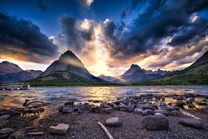 Swiftcurrent Lake at Sunset by Dean Fikar