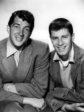 DEAN MARTIN AND JERRY LEWIS in the 50's (b/w photo)