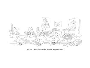 """""""You can't move we adjourn, Wilson. We just started."""" - New Yorker Cartoon by Dean Vietor"""