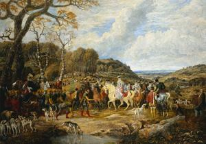 Queen Elizabeth and Her Entourage Riding to the Hunt by Dean Wolstenholme