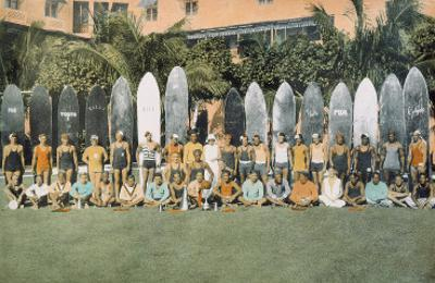 Duke Kahanamoku and Surfing Friends c.1930