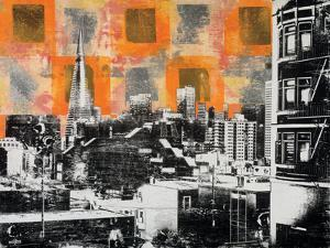 Urban Collage Skyline by Deanna Fainelli