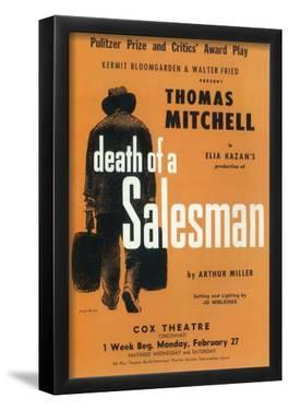 Death Of A Salesman - Broadway Poster , 1949