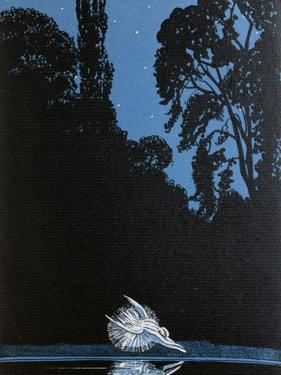Death of Swan, Illustration, 'La Gazette du Bon Ton' inspired by Tchaikovsky's ballet 'Swan Lake'