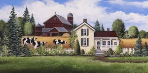 House-Barn-Cows by Debbi Wetzel