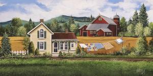 House-Quilt-Red Barn by Debbi Wetzel