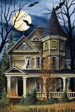 Spooky Yellow House by Debbi Wetzel