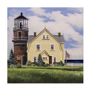 Yellow Lighthouse by Debbi Wetzel