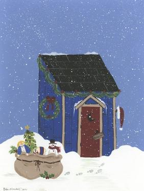 Blue Outhouse by Debbie McMaster