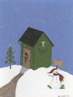Dark Green Outhouse by Debbie McMaster