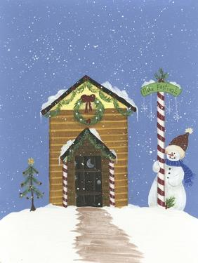 Log Outhouse by Debbie McMaster
