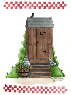 Wooden Outhouse by Debbie McMaster