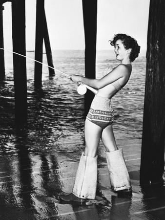 Debbie Reynolds Fishing